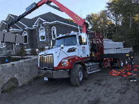 Truck Delivery of Steel Framing